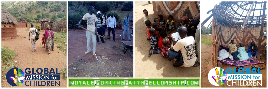 qonqoma and Gotu evangelism brother William GMFC WFF christian sponsor a child