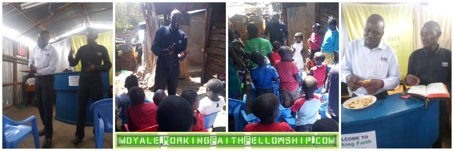 WFF GMFC MOYALE KENYA William preaching Kibera Slum